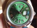 Ceas Rolex Day - Date verde 40 mm