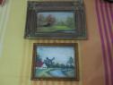 2 Tablouri Goblen si Pictura,inramate-colectie,ieftine