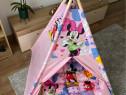 Cort pentru copii teepee cu salteluta dubla-model Minnie