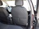 Protectie spate scaun auto imitatie piele, negru cu rosu sau