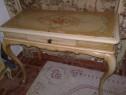 Birou/masa toaleta baroc venetian antic/vintagel,pictat