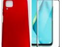 Huawei P40 Lite - Husa Din Silicon + Folie Sticla 11D