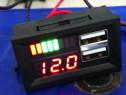 Tester baterie +voltmetru digital de panou 4-30v dc hifonic