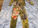 Costum flori blugi