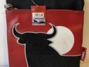Geanta postas Toro, din piele ecologica si panza impermeabil