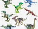 Set 8 Dinozauri tip Lego Jurassic World cu Blue si Spinosaur
