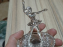 Suport argintat balerină pt. inele
