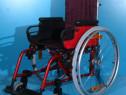 Scaun cu rotile din aluminiu Sopur / latime sezut 36 cm