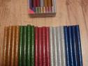 Set 20 batoane silicon colorat cu sclipici, 7mm, 10cm, Nou!
