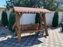 Balansoar Rustic din lemn masiv pentru gradina