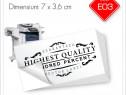 Etichete Autoadezive Personalizate 7 x 3,6 cm | Alb/Negru
