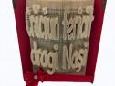Cadou Craciun carte sculptata cu mesaj text personalizat