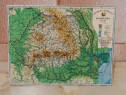 Harta fizica R.S.R. in format mini