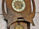 Pendula veche elvetiana, cadran emailat, perioada 1890