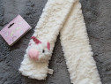 Fular moale alb cu unicorn bebeluși