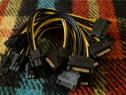 Pachet 10x Cablu Sata 15 pini la PCI-E Express 6 Pini, 18cm