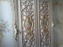 Dormitor SILIK,Italia!baroc venetian,pictat,semnat,foita aur