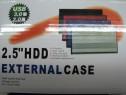 """Adaptor HDD Caddy HDD/SSD SATA 3 Extern 2,5"""" USB 2.0 Metalic"""