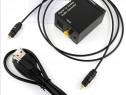Convertor audio digital optic in analog Adaptor Decodor TV