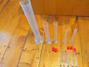 10 Recipiente ptr laborator chimie,5 cilindri/5 Eprubete etc