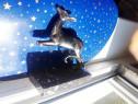 C490-Caprioara semn de carte Art Deco argintata stare buna.