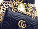 Geantă Gucci Marmont import Italia,logo metalic auriu
