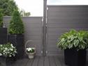 Gard WPC profil 120x24x4000mm gri lucios