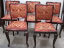 Set 5 Scaune Vintage Stil Rococo; Scaun cu spatar si sezut