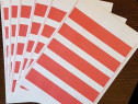 Etichete autocolante hartie predecupate colturi, in 2 culori