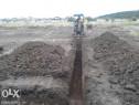 Lucrari cu buldoexcavator