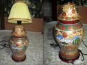 Lampa mare portelan frumos design cu motiv oriental.