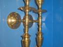 4671-Aplice clasice pereche vechi pentru lumanari din bronz.