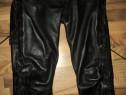 Pantaloni moto / rock /chopper cu snur din piele naturala