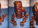 630-Set ceramica tarie-Cana 6 paharele stil naturalist.