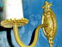 5514-Aplica mica veche stil Baroc bronz masiv Franta.