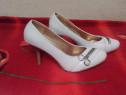 Pantofi Stiletto 36,38 Pietricele Office Piele Dama Sandale