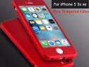 Iphone 5 5S SE - Husa 360 Rosie, Red Fata Spate Folie Sticla