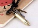 Lant lantisor lanturi cu pandantiv medalion cu glont & cruce