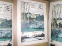 Castel Leopoldskron Salzburg Austria gravura color veche
