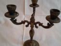 Sfesnic cu trei brate vintage din alama sau bronz