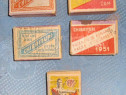Set 5 cutii chibrite diferite Romania socialista 1948-55.