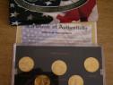 Set monede America - placate cu aur 24K - chilipir!