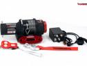 Troliu electric ATV Powerwinch cablu sintetic 4000 lbs (trag