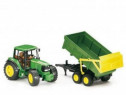 Jucarie tractor john deere 6920 cu remorca basculanta
