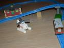 Set Thomas trenulet Toby cu vagon,elicopterul Harold,o casa