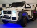 Masina electrica cu Telecomanda Mercedes G63 6x6 Premium ALB
