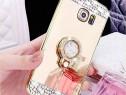 Huse silicon Diamond cu inel Samsung S6 Edge / S7 Edge