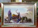 Tablou pictat manual pe panza in ulei Peisaj Vara A-433