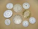 A317- Set 9 cadrane vechi ceasuri buzunar-Omega-Elgin, etc.