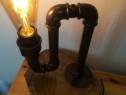 Lampă steampunk - stil industrial